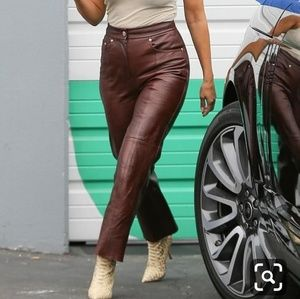 Genuine Leather Brown Pants Banana Republic